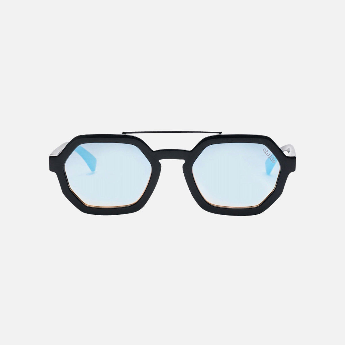 EXIT-B Gloss Black | Rose Gradient / Sky Blue Mirror Lens