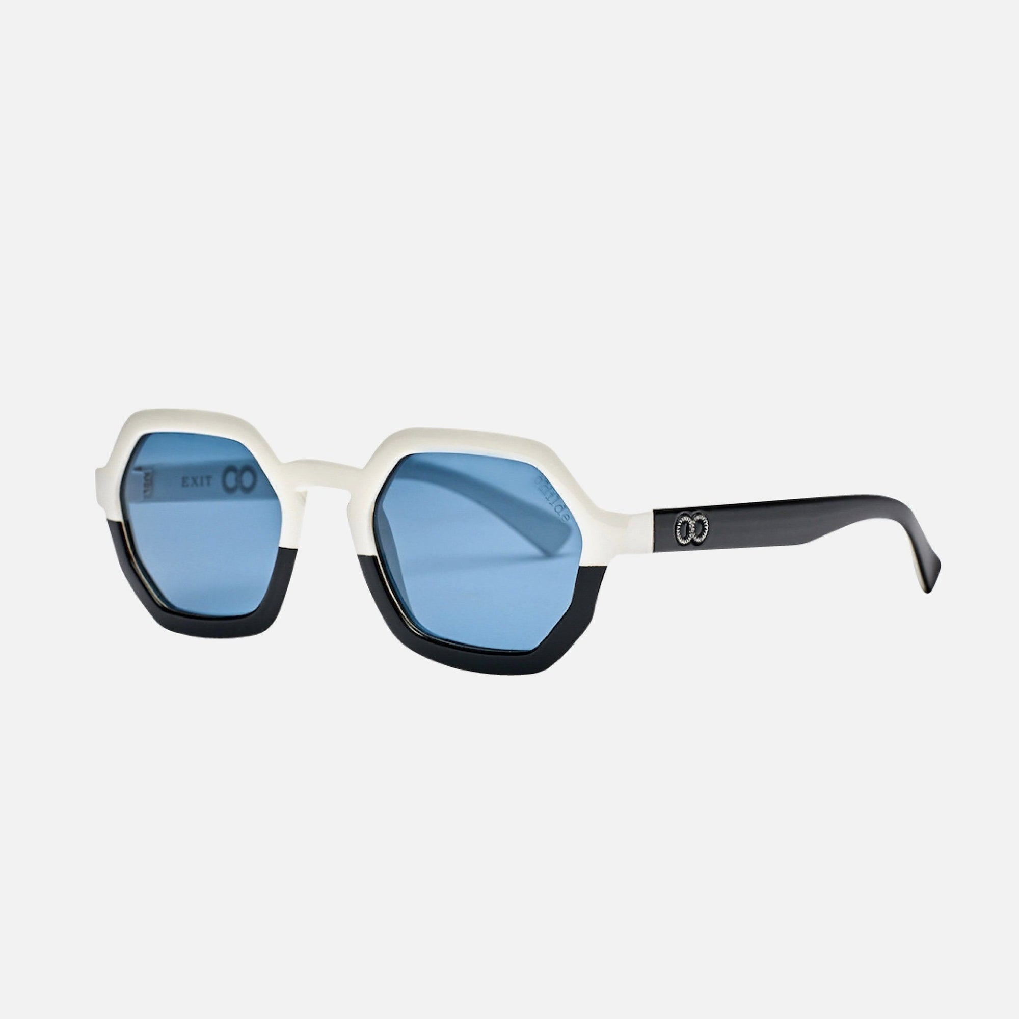 EXIT - Gloss Black/Gloss White Top Deck | Blue Telluric Lens