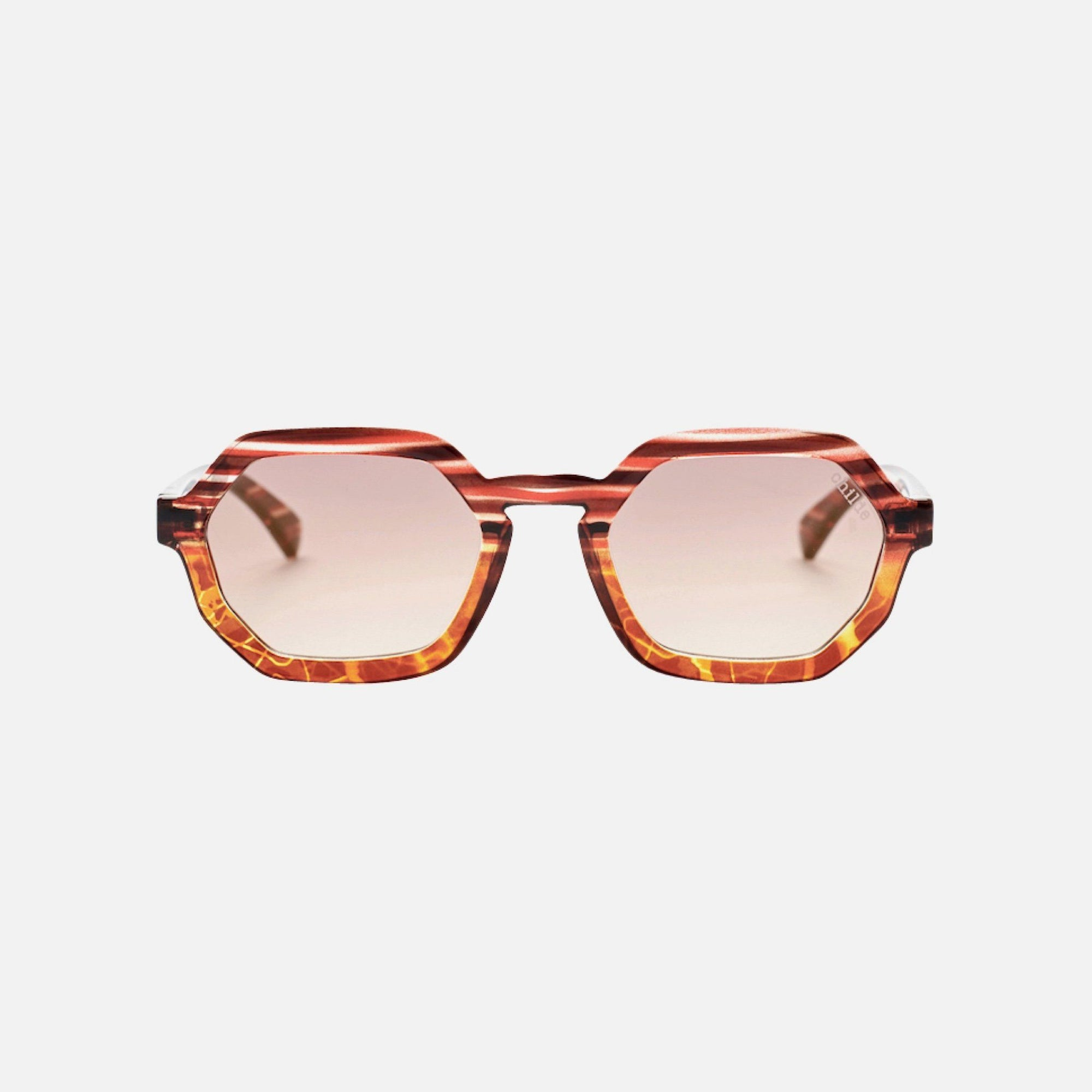 EXIT Striped Bourdeaux to Gloss Tort | Amber Lens