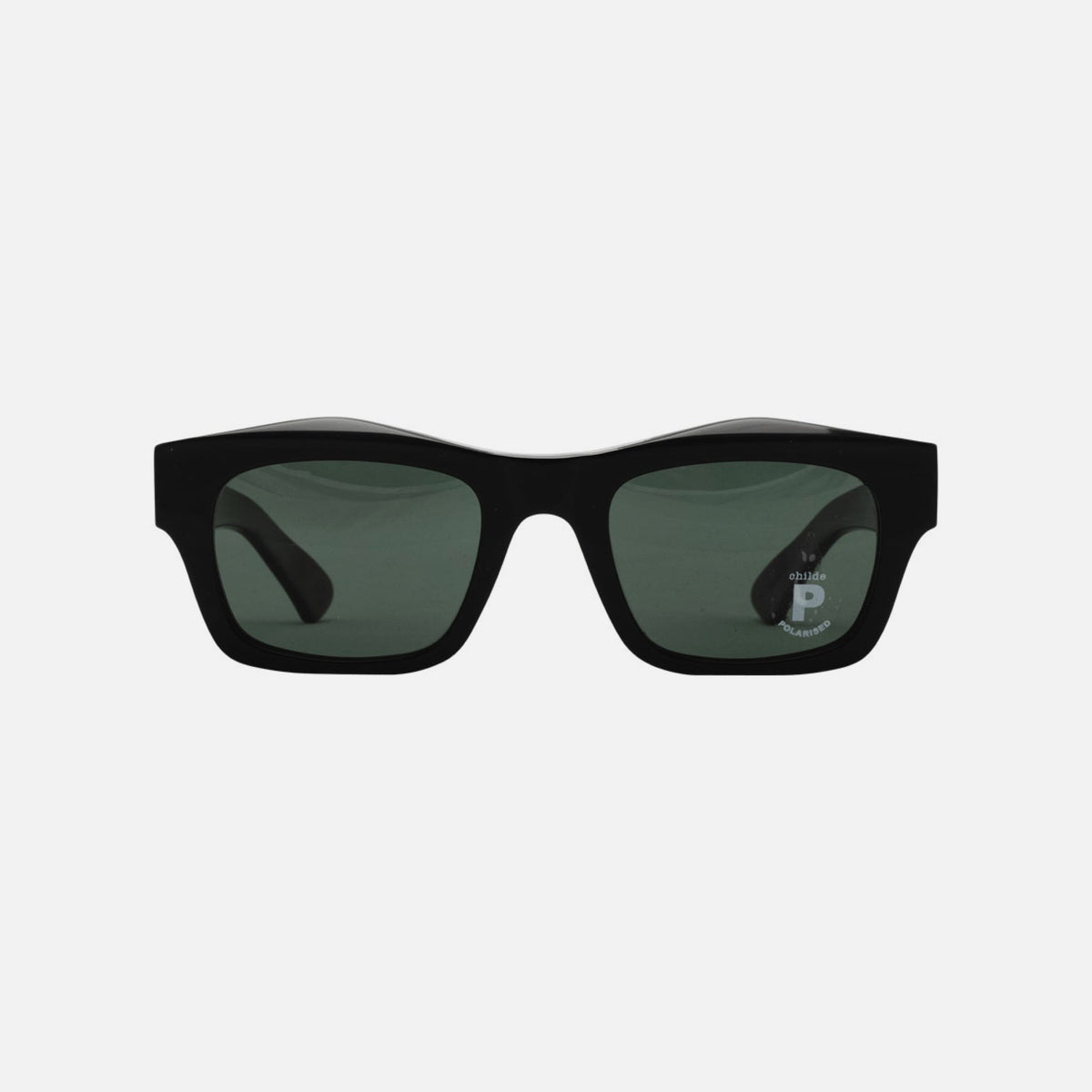 FOLSOM Bio-Acetate Gloss Black | Green Polarised Lens