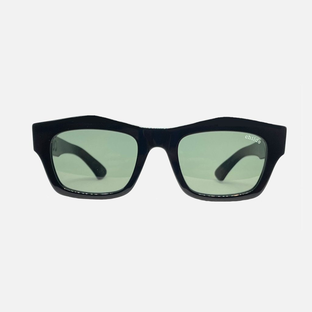 FOLSOM Bio-Acetate Gloss Black | Grey Vintage Lens
