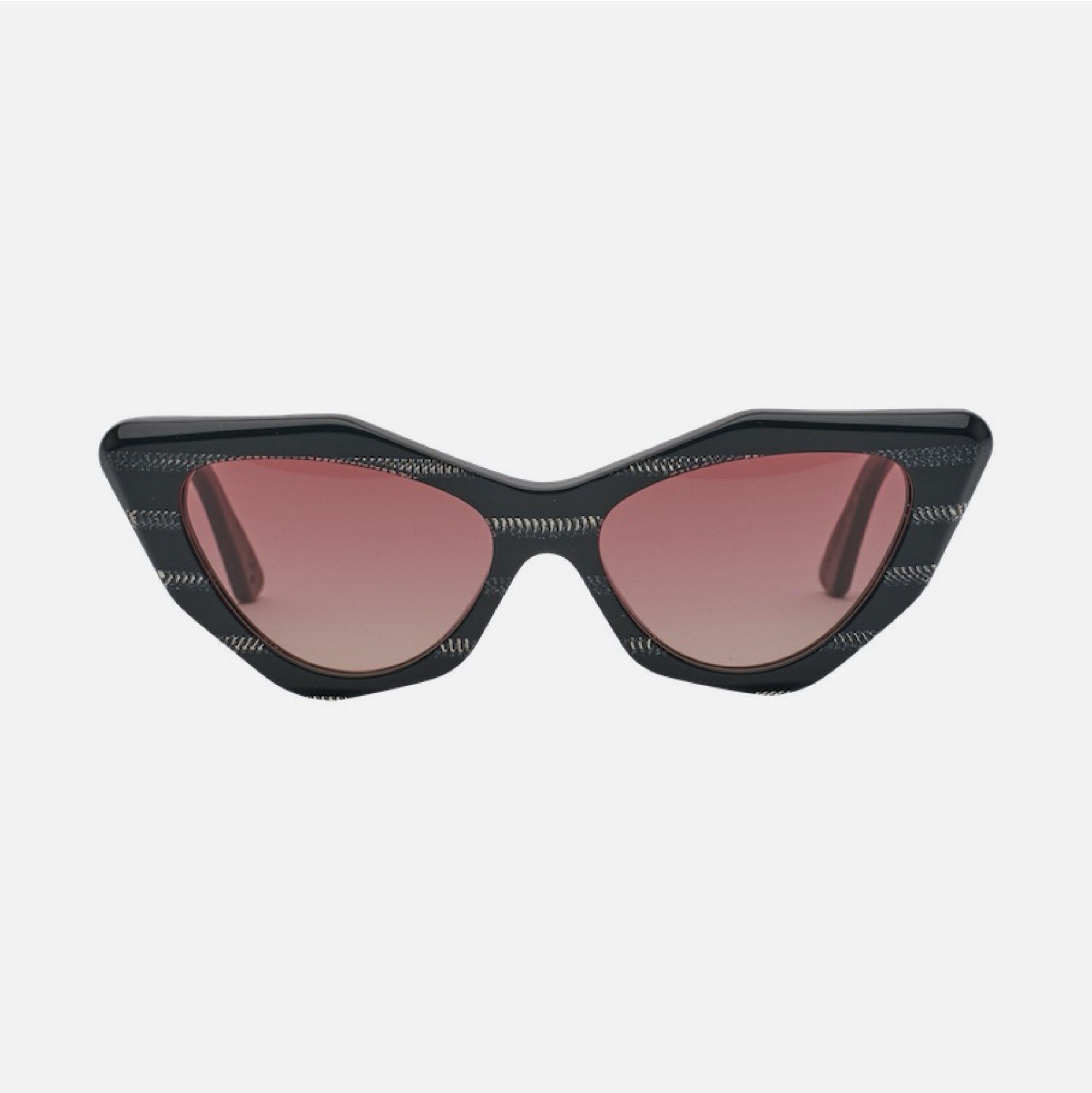 MOOKHI Bio-Acetate Gloss Black Devil | Rose Vital Gradient Lens