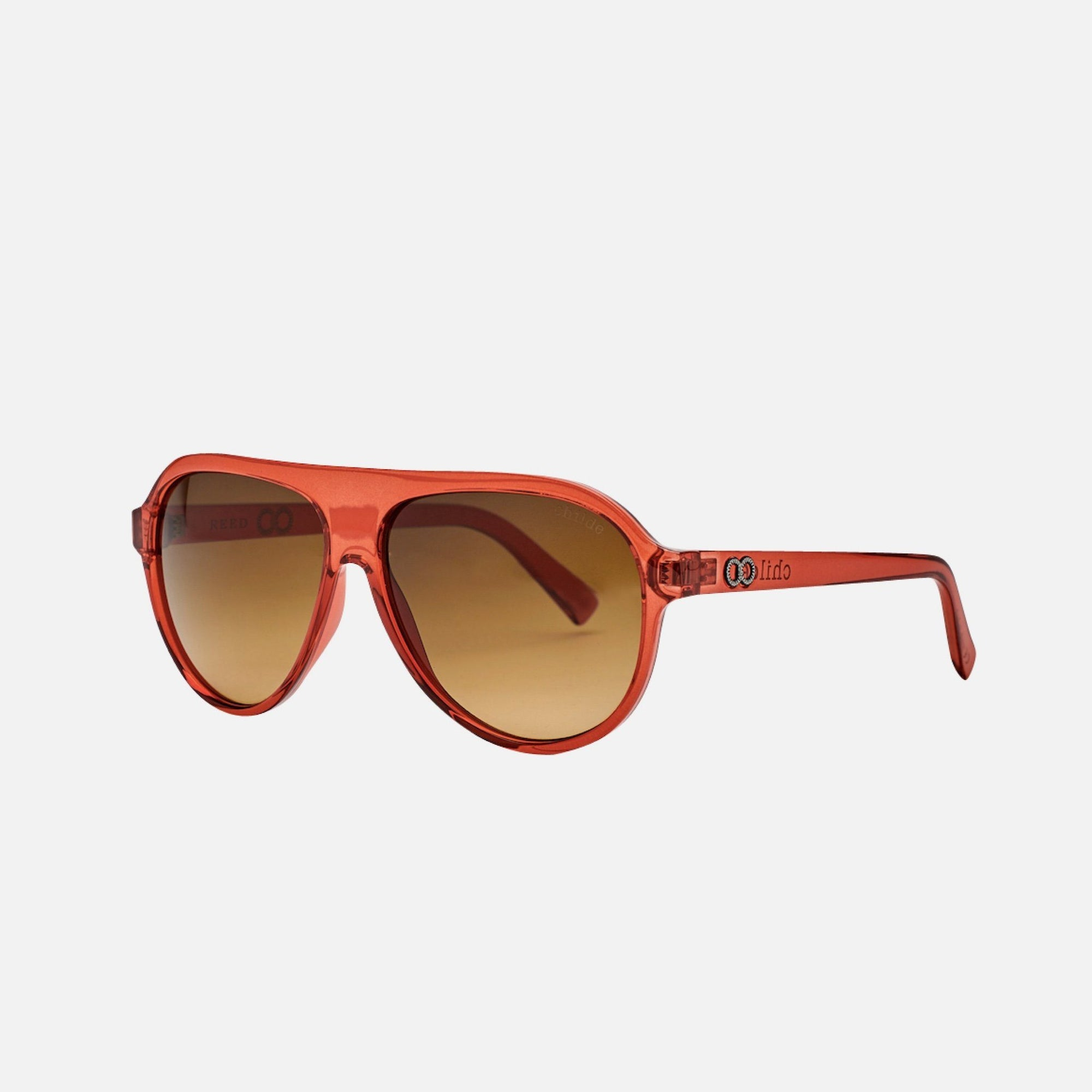 REED Translucent Toffee Red | Amber Double Gradient Lens