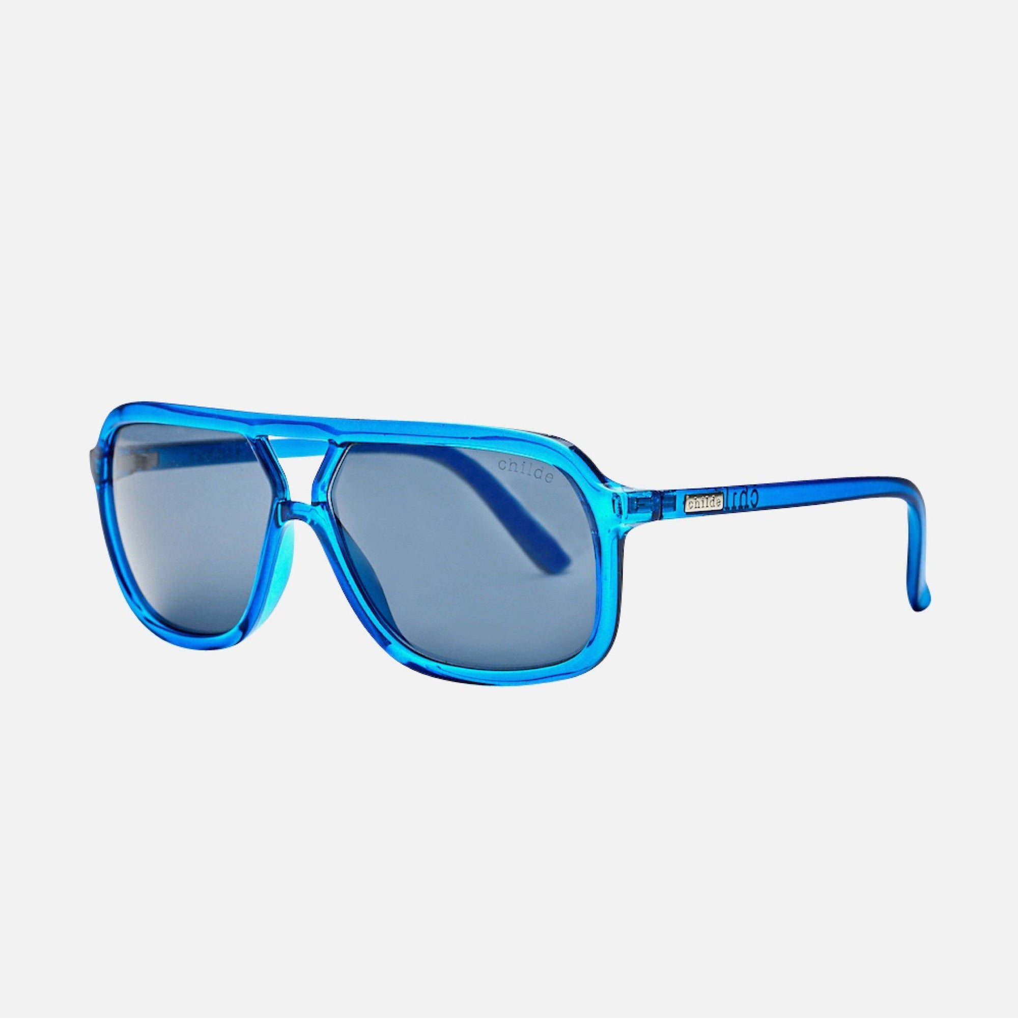 TREBLE Crystal Electric Blue | Grey Lens
