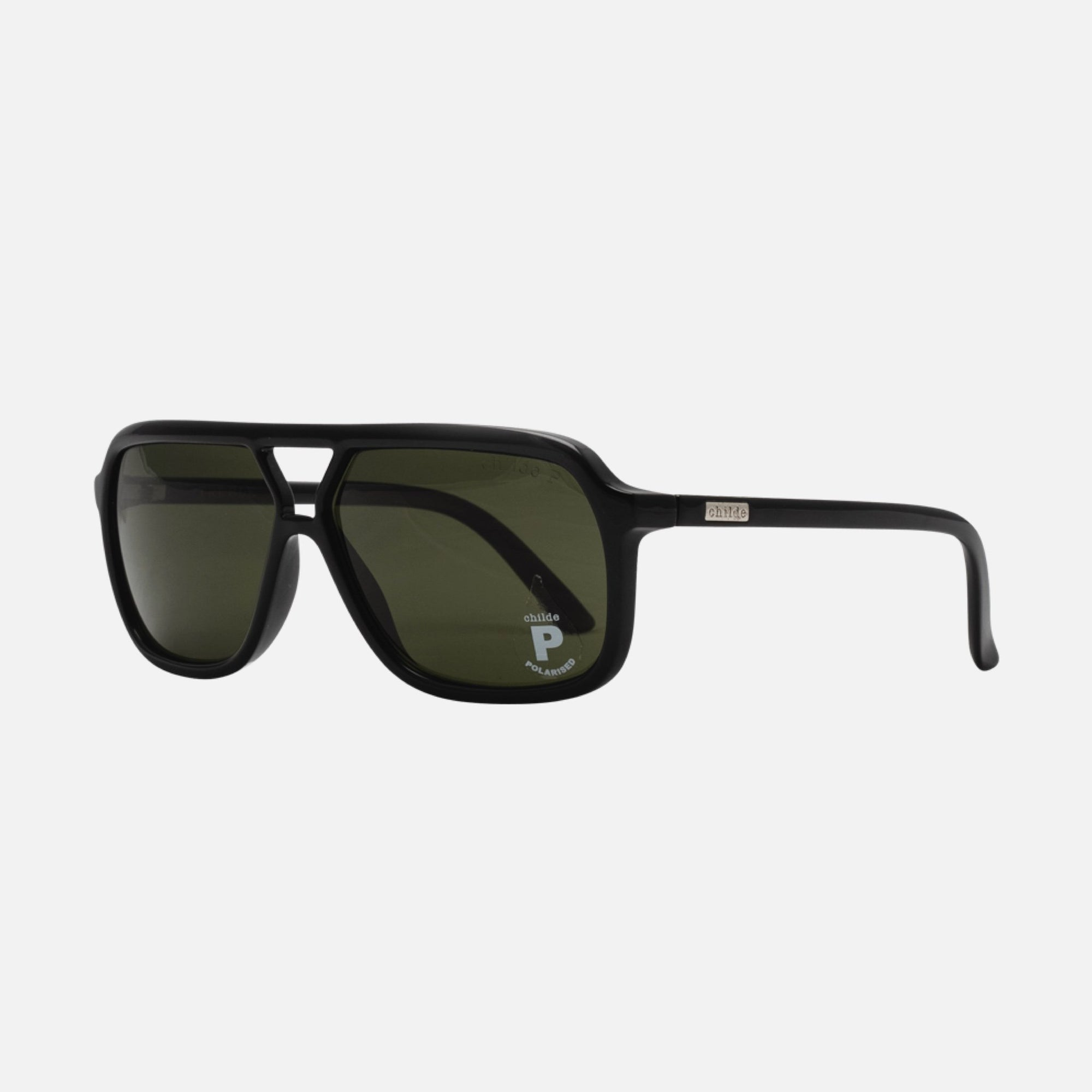TREBLE Gloss Black | Green Polarised Lens