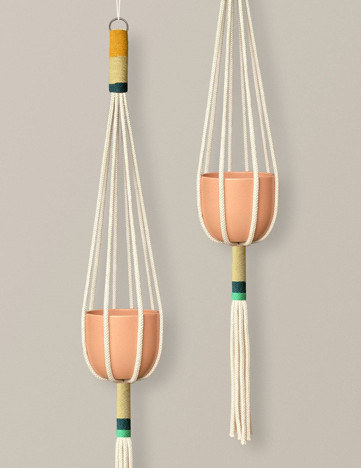 Color Block Macramé Plant Hanger