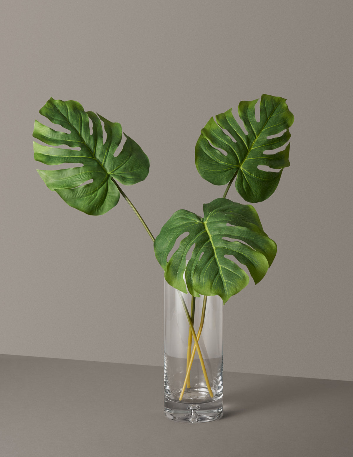 Faux Monstera Leaves Trio