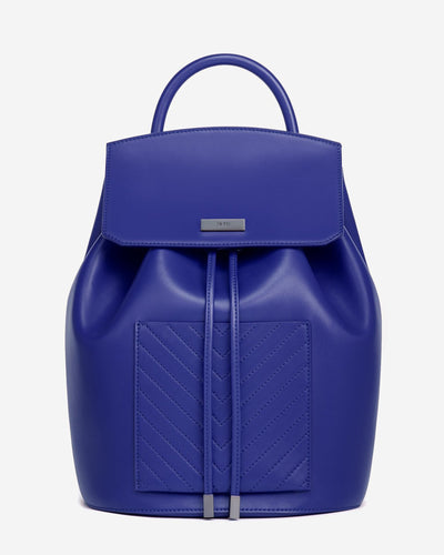 The Drawstring Backpack - Blue