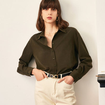 Eartha Stand-up Collar Blouse