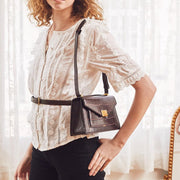 Lilian Bag - Brown Croc