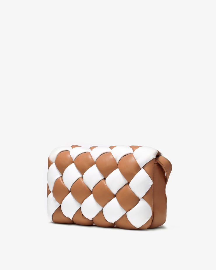 Maze Bag - White & Tan