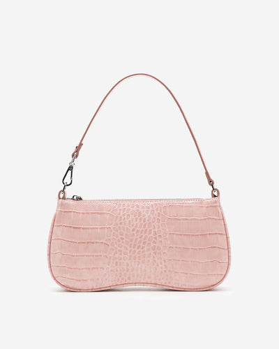 Eva Shoulder Bag - Pink Croc