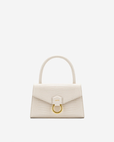 Stella Top Handle Bag - Ivory Lizard