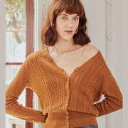 Anna Wool Cardigan - Brown