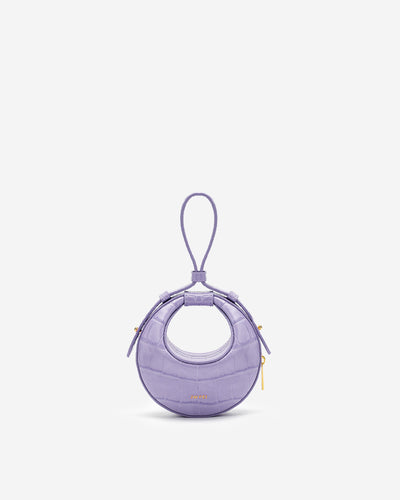 Rantan Super Mini Bag - Purple Croc