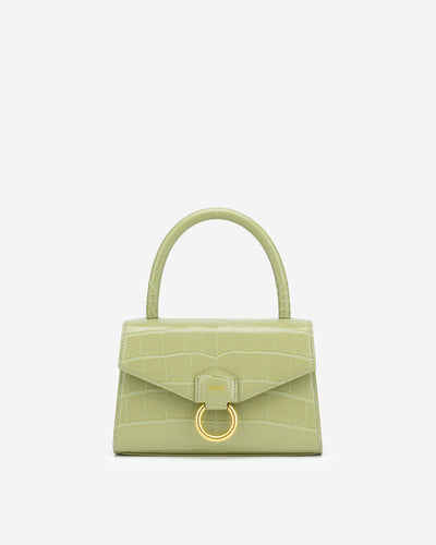 Stella Top Handle Bag - Sage Green Croc