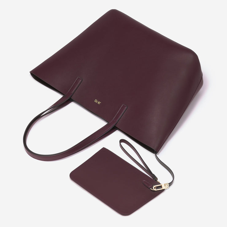 The Minimal Tote - Dark Burgundy