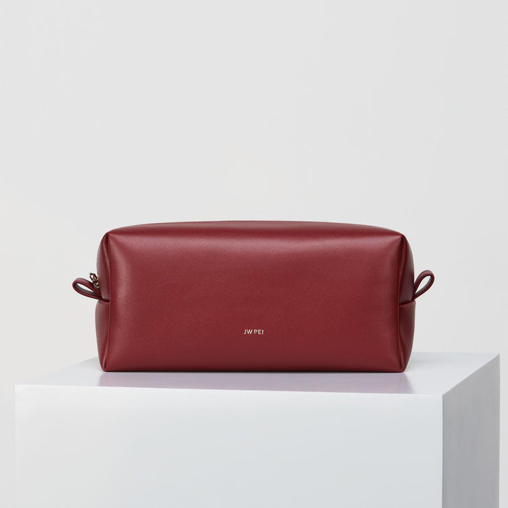 The Makeup Bag - Wine Red