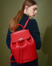 The Drawstring Backpack - Red