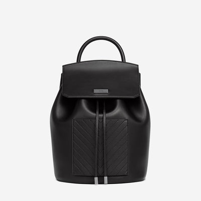 The Drawstring Backpack - Black