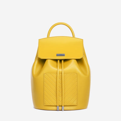 The Drawstring Backpack - Yellow
