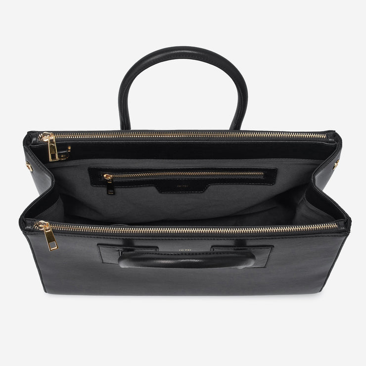 Zipper Satchel - Black