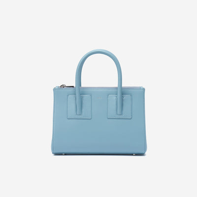 Mini Zipper Satchel - Ice