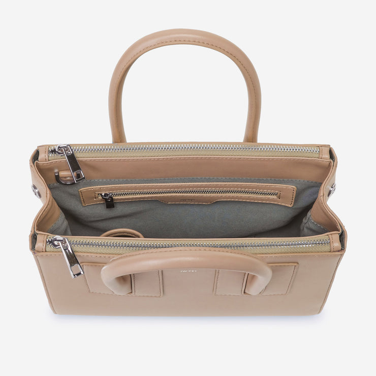 Mini Zipper Satchel - Beige
