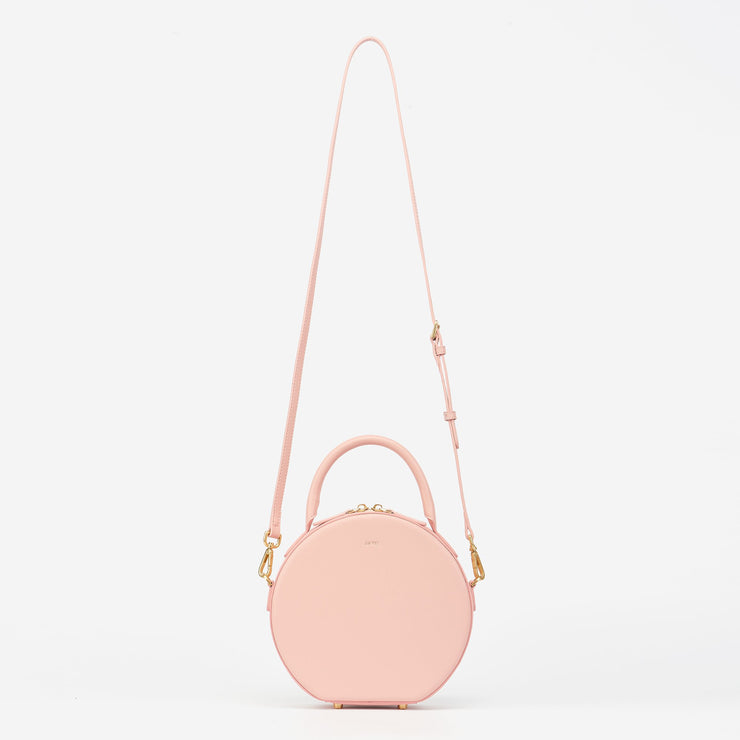 Mini Circle Top Handle Bag - Blush