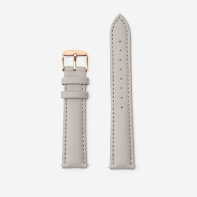 18 mm Vegan Leather Watch Strap - Grey