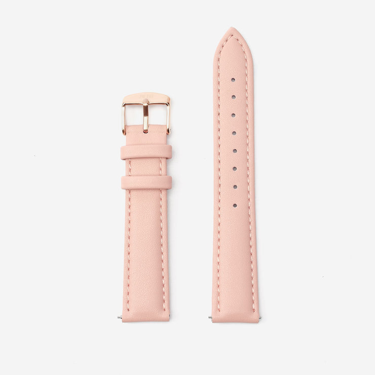 18 mm Vegan Leather Watch Strap - Pink