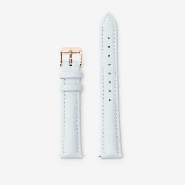 16 mm Vegan Leather Watch Strap - Light Blue