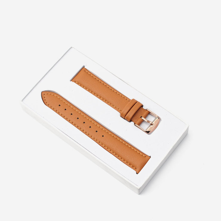 18 mm Vegan Leather Watch Strap - Tan