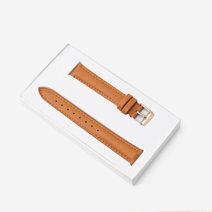16 mm Vegan Leather Watch Strap - Tan
