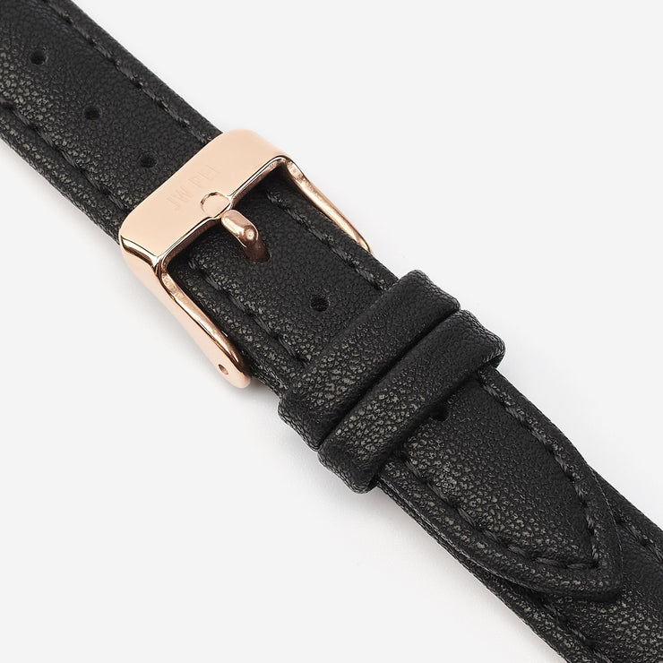 16 mm Vegan Leather Watch Strap - Black