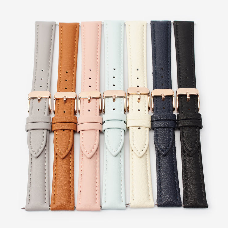 16 mm Vegan Leather Watch Strap - Ivory