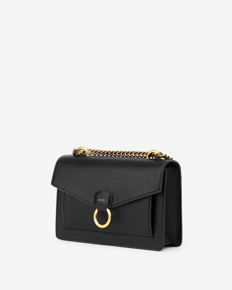 The Envelope Chain Crossbody - Black