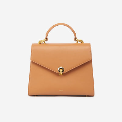 The Flap Top Handle - Tan