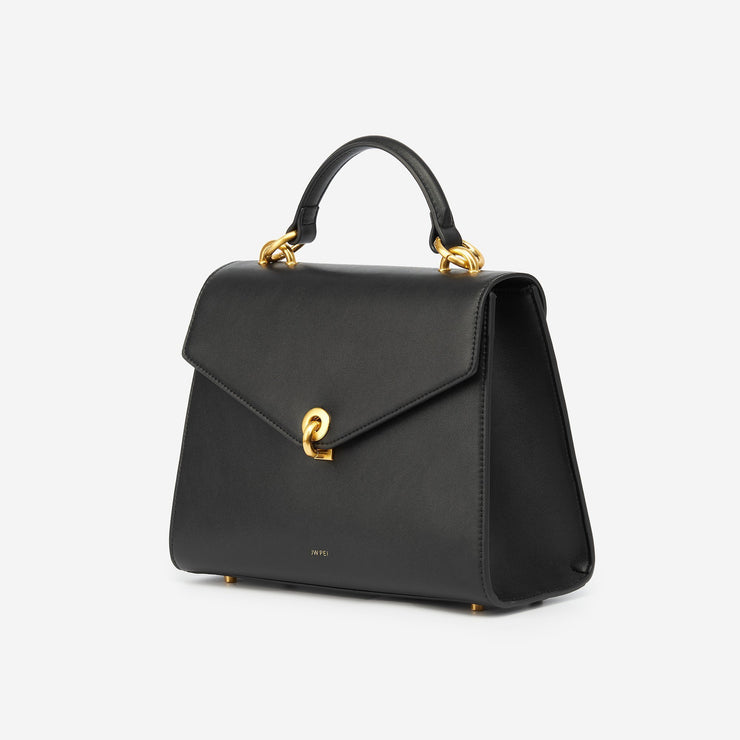 The Flap Top Handle - Black