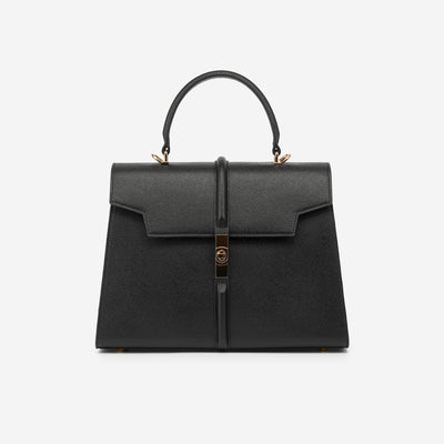 The Jona Top Handle Bag - Black