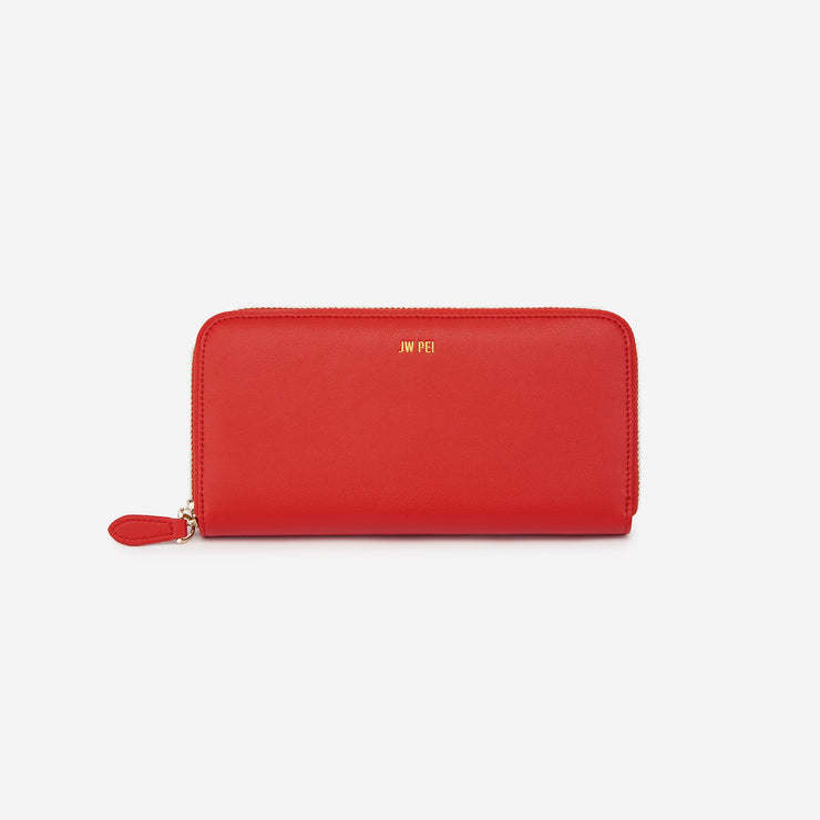 Zipper Wallet - Red