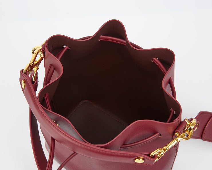 The Bucket Bag - Wine Red