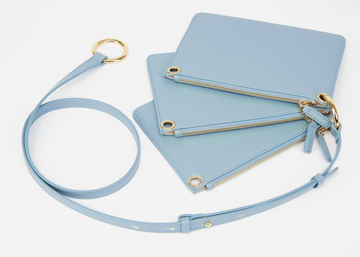 The Triplet Crossbody Bag -  Ice Blue