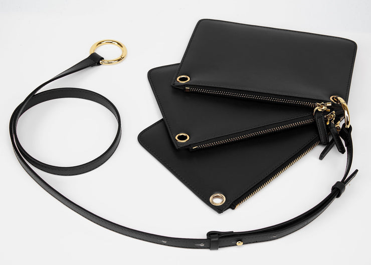 The Triplet Crossbody Bag - Black