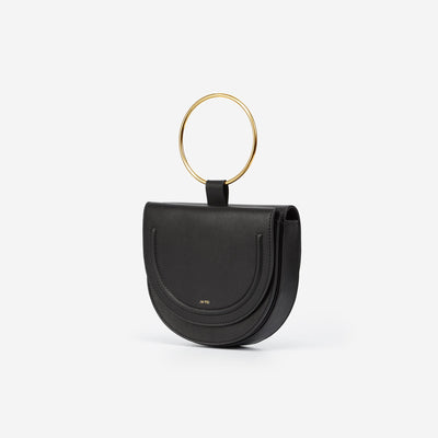The Double Moon Crossbody - Black
