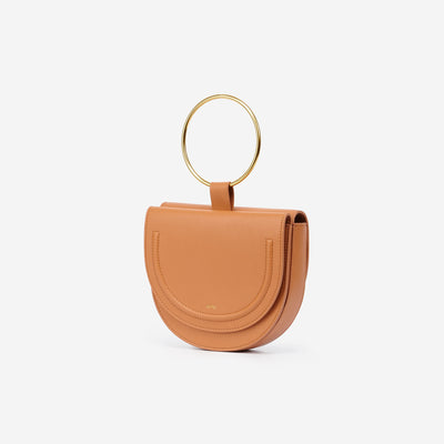 The Double Moon Crossbody - Tan