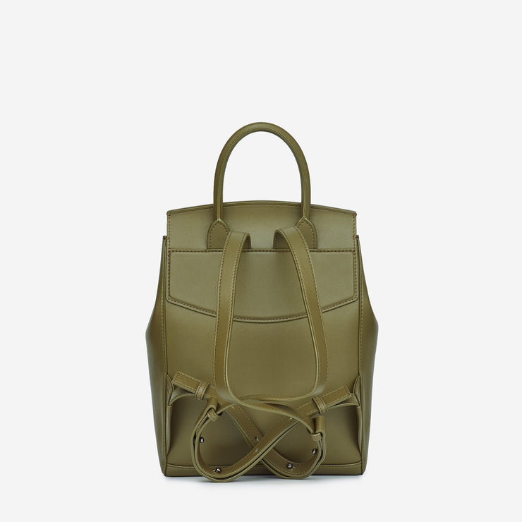 Mini Drawstring Backpack - Olive