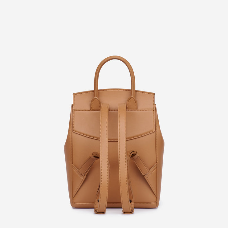 Mini Drawstring Backpack - Tan