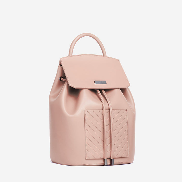 The Drawstring Backpack - Blush
