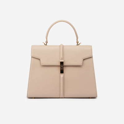 The Jona Top Handle Bag - Beige